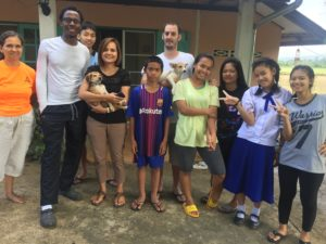 Our whole family, plus our volunteer Rauel Reyna and a visiting missionary Amir Davis